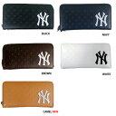 あす楽 イーカム MLB 長財布 ニューヨークヤンキース ロゴ型押し YK-1406P-02