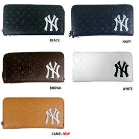 ed547e675101 あす楽 イーカム MLB 長財布 ニューヨークヤンキース ロゴ型押し YK-1406P-02