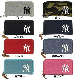 9c99c3bb05d7 あす楽 イーカム MLB 長財布 ニューヨークヤンキース 杢調 YK-WLT01
