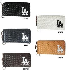 1e4345103c17 あす楽 イーカム MLB 長財布 ロサンゼルス・ドジャース 編み込みデザイン LA-WLT05