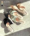 【送料無料】レディース シューズ ローヒール サンダル スクウェアトゥ 美脚 パステル 春夏 BASEMENT online 2020SS【…