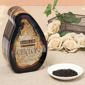 【シルバーチップ入り贅沢なプレミアムセイロンティー(茶葉100g)】ギフト 紅茶 プレゼント セイロンティー スリランカ シルバーチップ<バシラーティー basilurtea>SPECIAL