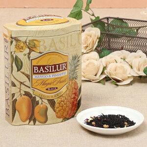 MANGO & PINEAPPLE(茶葉100g)<バシラーティー basilurtea >【ギフト 内祝い 紅茶 プレゼント セイロンティー 茶葉 フレーバーティー 水出し アイスティー デザイン缶 マンゴー パイナップル】