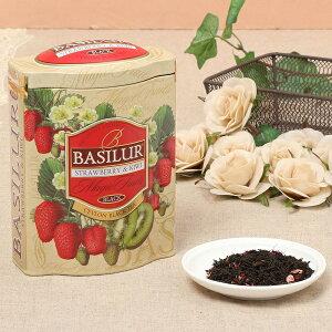ストロベリー&キウイ 茶葉100g<バシラーティー>【ギフト 内祝い 紅茶 プレゼント フレーバーティー デザイン缶】