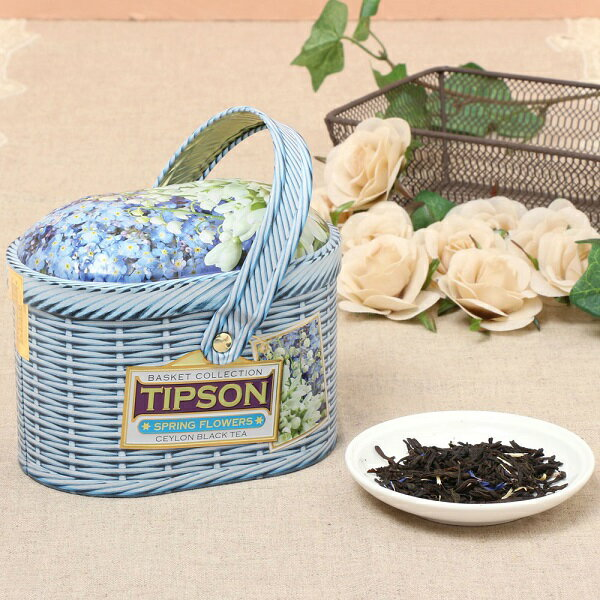 Spring Flowers 【花 ギフト/内祝い/紅茶/プレゼント/セイロンティー/茶葉/フレーバーティー/かわいい/バスケット/缶/アイスティー/水出し】