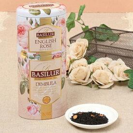 ENGLISH ROSE-DIMBULA【ギフト 花 内祝い 紅茶 プレゼント セイロンティー 茶葉 フレーバーティー 缶 バラ 薔薇】