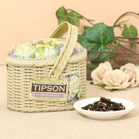 Flower Basket【紅茶 緑茶 茶葉 花 フラワー かわいい セイロンティー 缶 フレーバーティー ギフト】<バシラーティー basilurtea >