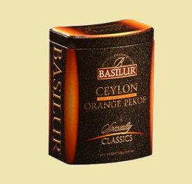 CEYLON PUREMIA (茶葉100g入り)【セイロンティー ギフト 内祝い 紅茶 プレゼント 茶葉 お歳暮 缶】バシラーティー basilurtea