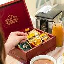 紅茶ティーバッグ収納木箱(ティーバッグ6種×10袋付き)バシラーティー 【母の日 ギフト ティーバッグ 収納 インテリア 贈り物 ギフト …