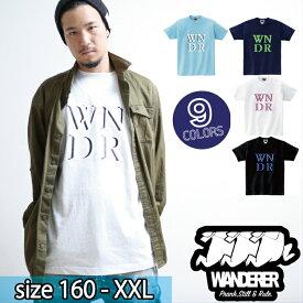 ダンス衣装 ヒップホップ メンズ レディース ブランド スケーター ストリート ファッション Tシャツ ダンス 衣装 hiphop 半袖 衣装 オーバーサイズ ロゴ ストリート系 レディース トップス WANDERER(ヴァンダラー) のWNDRロゴTシャツ