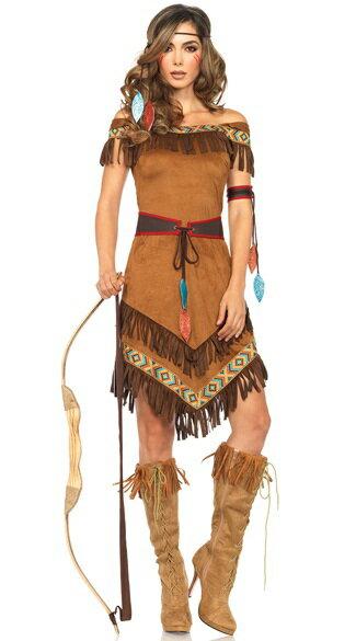 ネイティブプリンセスインディアンコスチューム 4点セット 仮装コスチューム コスプレ /LEG AVENUEレッグアベニュー コスプレ・仮装・ハロウィン・女性大人用