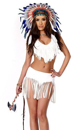 インディアンサマー セクシーネイティブアメリカン コスチューム 3点セット コスプレ衣装 (二次会、結婚式、仮装、パーティー、宴会、ハロウィン)大人女性用