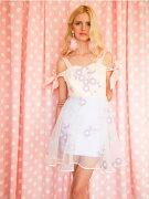 花柄ワンピース可愛いドレスガーリーファッションレディース通販シフォンハンドメイド/LOVEMETENDERタイブランド【送料無料】