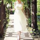 マタニティ シフォンロングドレス可愛い妊婦服 大きいサイズ【送料無料】