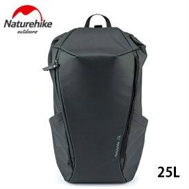 アウトドア バックパック コミューターバッグ キャンプハイキング 25L ブラック男女兼用 人気 Naturehike