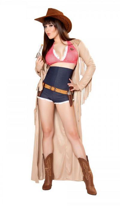 4361Pinup Sheriff 保安官 /Roma Costumeローマコスチューム コスプレ衣装 (二次会、結婚式、仮装、パーティー、宴会、ハロウィン) 女性 大人用