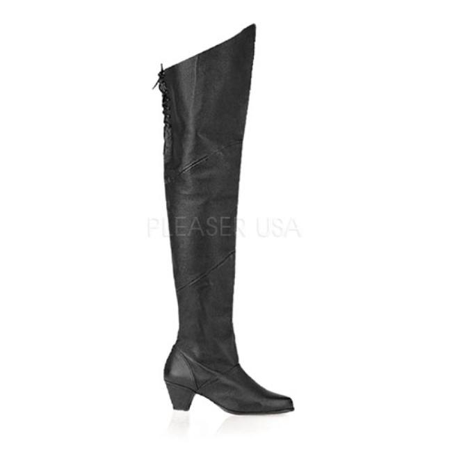 MAIDEN-8828 2.5インチ(約6cm) サイハイブーツ /Pleaserプリーザー パーティードレス 靴 大きいサイズ