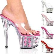 ADORE-701FL7インチハイヒール17.7cmピンヒール薔薇サンダル/Pleaserプリーザーレディースシューズ靴インポート【送料無料】