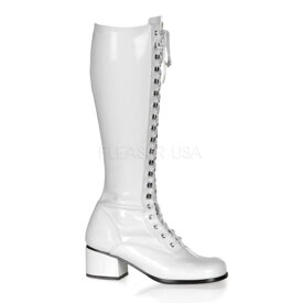 RETRO-302 ブーツレトロ 2インチ(約5cm)ヒール SKE48 /Pleaserプリーザー コスプレ靴 ハロウィン 仮装 大きい