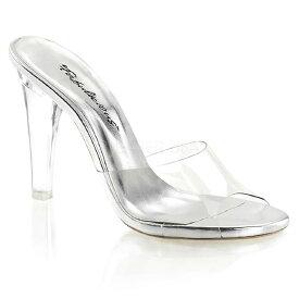 CLEARLY-401 4.5インチ(約11.5cm) ハイヒール クリア 厚底サンダル /Pleaserプリーザー パーティー 靴 大きいサイズ