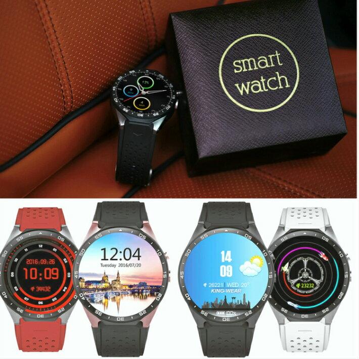 Android 5.1 スマートウォッチ Smart Watch 日本語対応 通話可能 着信 ラインLine通知 Bluetooth 4.0 カメラ撮影 GPS KW88 人気 グーグルアシスタント