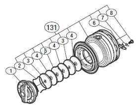 ●シマノ 13ナスキーC3000HG(03115)用 純正標準スプール (パーツ品番105) 【キャンセル及び返品不可商品】 【まとめ送料割】