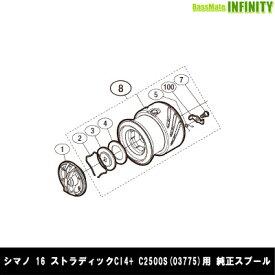 ●シマノ 16 ストラディックCI4+ C2500S (03775)用 純正標準スプール (パーツ品番105) 【キャンセル及び返品不可商品】 【まとめ送料割】