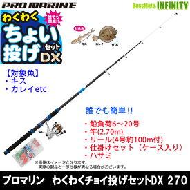 【在庫限定58%OFF】プロマリン わくわくチョイ投げセットDX 270 海釣り入門セット