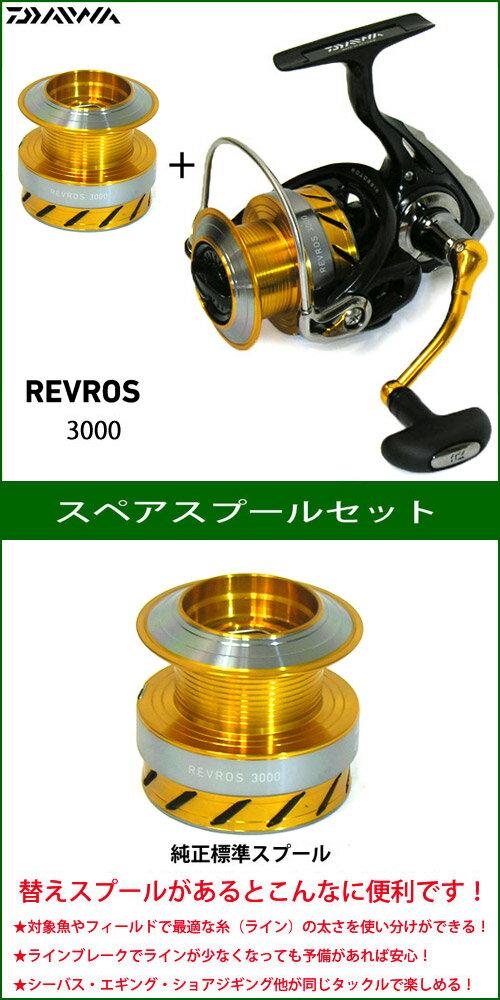 ●ダイワ 15 レブロス 3000 スペアスプール付きセット (部品コード128905) 【まとめ送料割】