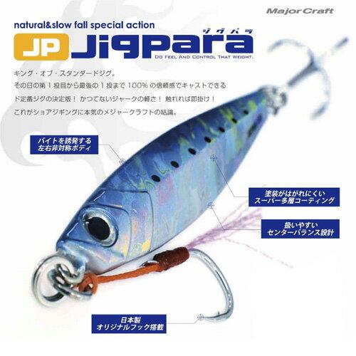 ●メジャークラフト ジグパラ ショート JPS 40g 【メール便配送可】 【まとめ送料割】