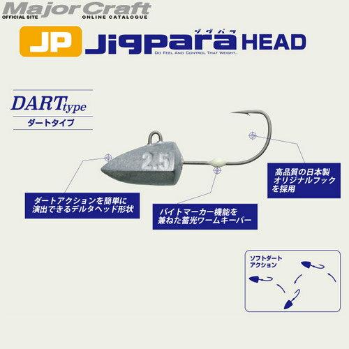 ●メジャークラフト ジグパラヘッド JPHD-DART ダート 【メール便配送可】 【まとめ送料割】