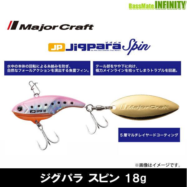 ●メジャークラフト ジグパラ スピン JPSPIN 18g 【メール便配送可】 【まとめ送料割】