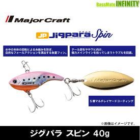 ●メジャークラフト ジグパラ スピン JPSPIN 40g 【メール便配送可】 【まとめ送料割】