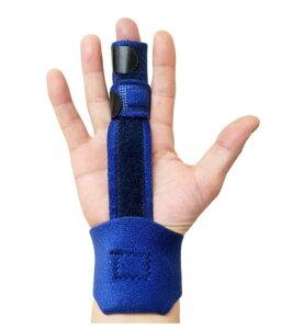 【送料無料】 指サポーター ばね指サポーター 突き指 骨折 腱鞘炎 リハビリ 人差し指 手 親指 人差し指 中指 薬指 小指 全指適応 左右兼用 フリーサイズ 調節可能 手首 紺色