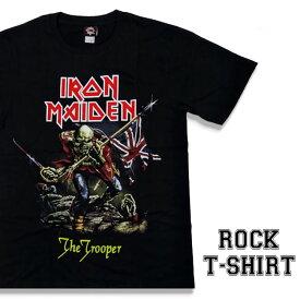 ロックTシャツ 半袖 Iron Maiden Tシャツ アイアンメイデン バンドTシャツ メンズ レディース パロディ Tシャツ おもしろ ロゴ 衣装 ダンス ミュージック ファッション ROCK ブラック 黒 コットン 綿 100% 春夏 夏物 おしゃれ