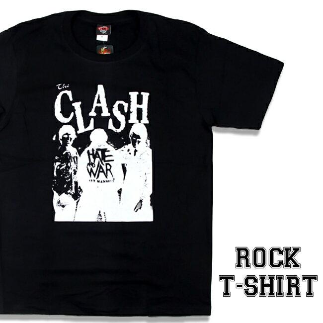 ロックTシャツ The Clash Tシャツ クラッシュ 半袖 バンドTシャツ メンズ ユニセックス ロックT バンドT バンT ロゴ 衣装 ストリート ダンス ミュージック ファッション ROCK ブラック ホワイト 黒 白 コットン 綿 100% 春夏 秋 おしゃれ