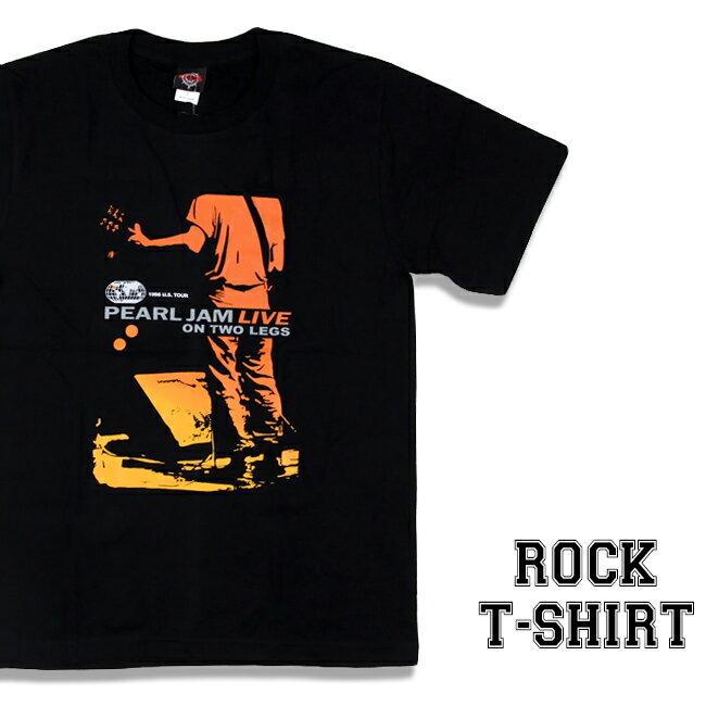 ロックTシャツ 半袖 Pearl Jam Tシャツ パールジャム バンドTシャツ メンズ レディース ロックT バンドT バンT ロゴ 衣装 ロゴT ダンス ミュージック ファッション ROCK ブラック 黒 コットン 綿 100% 春夏 夏物 おしゃれ