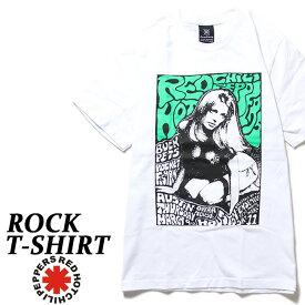 ロックTシャツ 半袖 Red Hot Chili Peppers Tシャツ レッチリ バンドTシャツ レッドホットチリペッパーズ メンズ レディース パロディ Tシャツ おもしろ ロゴ 衣装 ダンス ミュージック ファッション ROCK ホワイト 白 コットン 綿 100% 春夏 夏物 おしゃれ