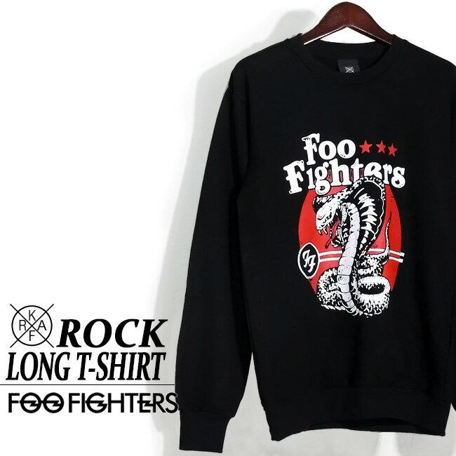 ロックTシャツ 長袖 Foo Fighters ロング Tシャツ フー ファイターズ ロンT バンドTシャツ メンズ ユニセックス ロックT バンドT バンT ロゴ バンド ダンス ミュージック ファッション ROCK ブラック ホワイト 黒 ヘヴィメタ コットン 綿 100% 春夏 おしゃれ
