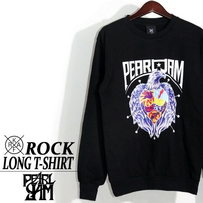 ロックTシャツ 長袖 Pearl Jam ロング Tシャツ パール ジャム ロンT バンドTシャツ メンズ ユニセックス ロックT バンドT バンT ロゴ バンド ダンス ミュージック ファッション ROCK ブラック ホワイト 黒 ヘヴィメタ コットン 綿 100% 春夏 おしゃれ