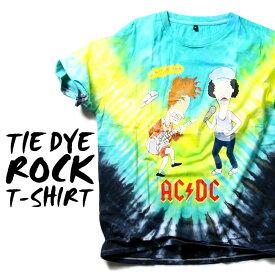 ロックTシャツ 半袖 AC/DC たいだい柄 tシャツ エーシーディーシー バンドTシャツ メンズ レディース ロックT バンドT バンT ロゴ バンド ロゴT ダンス ミュージック ファッション ROCK ブラック ホワイト 黒 ヘヴィメタ コットン 綿 100% 春夏 夏物 おしゃれ