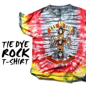 ロックTシャツ 半袖 Guns N' Roses たいだい柄 tシャツ ガンズアンドローゼズ バンドTシャツ メンズ レディース ロックT バンドT バンT ロゴ バンド ロゴT ダンス ミュージック ファッション ROCK ブラック ホワイト 黒 ヘヴィメタ コットン 綿 100% 春夏 夏物 おしゃれ