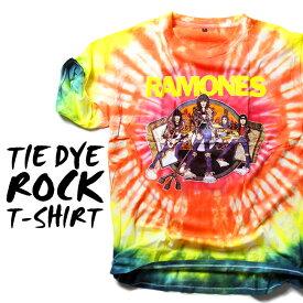 ロックTシャツ 半袖 Ramones たいだい柄 tシャツ ラモーンズ バンドTシャツ メンズ レディース ロックT バンドT バンT ロゴ バンド ロゴT ダンス ミュージック ファッション ROCK ブラック ホワイト 黒 ヘヴィメタ コットン 綿 100% 春夏 夏物 おしゃれ