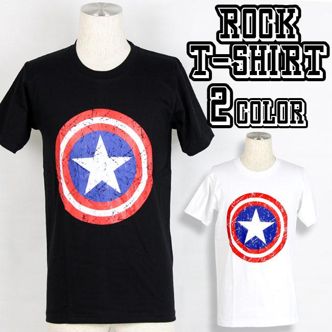 ロックTシャツ バンドTシャツ 星柄Tシャツ 2カラー メンズ 夏用 コットン100% M-XL
