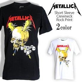 ロックTシャツ 半袖 Metallica Tシャツ メタリカ バンドTシャツ メンズ レディース ロックT バンドT バンT ロゴ バンド ロゴT ダンス ミュージック ファッション ROCK ブラック ホワイト 黒 白 ヘヴィメタ コットン 綿 100% 春夏 夏物 おしゃれ