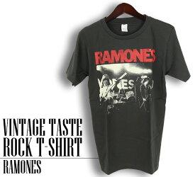 ロックTシャツ 半袖 ヴィンテージ風 Ramones Tシャツ ラモーンズ バンドTシャツ メンズ レディース ロックT バンドT バンT ロゴ バンド ロゴT ダンス ミュージック ファッション ROCK ブラック ホワイト 黒 白 ヘヴィメタ コットン 綿 100% 春夏 夏物 おしゃれ