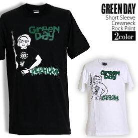 ロックTシャツ 半袖 Green Day Tシャツ グリーンデイ Kerplunk バンドTシャツ メンズ レディース ロックT バンドT バンT ロゴ バンド ロゴT ダンス ミュージック ファッション ROCK ブラック ホワイト 黒 白 ヘヴィメタ コットン 綿 100% 春夏 夏物 おしゃれ