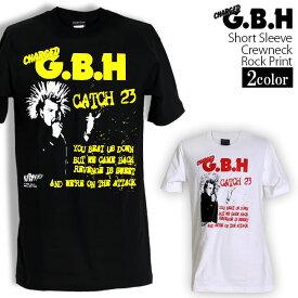 ロックTシャツ 半袖 G.B.H Tシャツ ジービーエイチ バンドTシャツ メンズ レディース ロックT バンドT バンT ロゴ バンド ロゴT ダンス ミュージック ファッション ROCK ブラック ホワイト 黒 白 ヘヴィメタ コットン 綿 100% 春夏 夏物 おしゃれ
