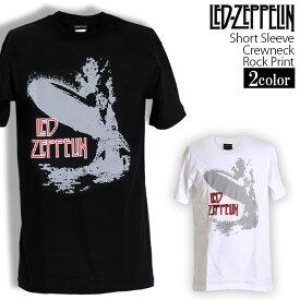 ロックTシャツ 半袖 Led Zeppelin Tシャツ レッドツェッペリン バンドTシャツ メンズ レディース ロックT バンドT バンT ロゴ バンド ロゴT ダンス ミュージック ファッション ROCK ブラック ホワイト 黒 白 ヘヴィメタ コットン 綿 100% 春夏 夏物 おしゃれ