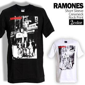 ロックTシャツ 半袖 Ramones Tシャツ ラモーンズ バンドTシャツ メンズ レディース ロックT バンドT バンT ロゴ バンド ロゴT ダンス ミュージック ファッション ROCK ブラック ホワイト 黒 白 ヘヴィメタ コットン 綿 100% 春夏 夏物 おしゃれ